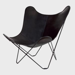 キャッシュレス還元 BKF Chair BKFチェア ブラックレザー スウェーデン 北欧|designshop-jp