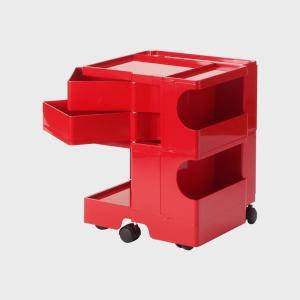 キャッシュレス還元 boby wagon ボビーワゴン 2段2トレイ 赤  正規保証2年|designshop-jp