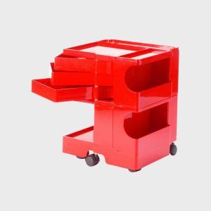 キャッシュレス還元 boby wagon ボビーワゴン 2段3トレイ 赤   正規保証2年|designshop-jp