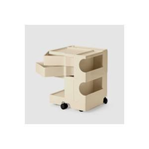 キャッシュレス還元 ボビーワゴン boby wagon 2段2トレイ ベージュ 正規保証2年|designshop-jp