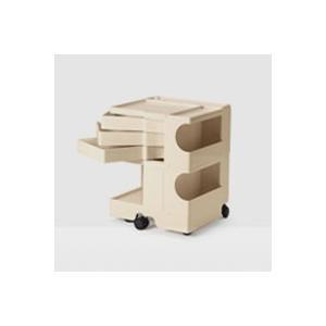 キャッシュレス還元 ボビーワゴン boby wagon 2段3トレイ ベージュ  正規保証2年|designshop-jp