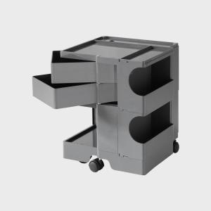 キャッシュレス還元  ボビーワゴン boby wagon 2段2トレイ グレー 正規保証2年|designshop-jp