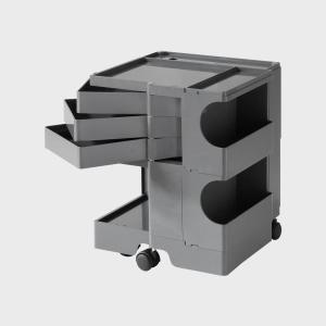 キャッシュレス還元 ボビーワゴン boby wagon 2段3トレイ グレー 正規保証2年|designshop-jp