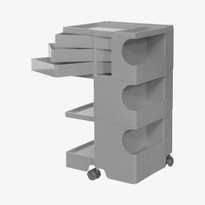 キャッシュレス還元 ボビーワゴン boby wagon 3段3トレイ グレー 正規保証2年|designshop-jp