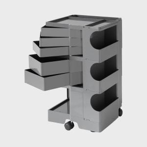 キャッシュレス還元 ボビーワゴン boby wagon 3段5トレイ グレー 正規保証2年|designshop-jp