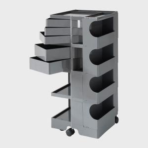 キャッシュレス還元 ボビーワゴン boby wagon 4段5トレイ グレー 正規保証2年|designshop-jp
