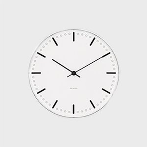 ローゼンダール アルネ ヤコブセン  掛時計 壁掛け時計 city hall シティホール φ 29cm|designshop-jp