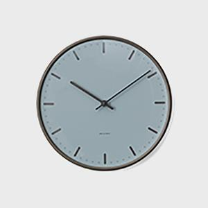 【次回入荷未定】アルネヤコブセン掛け時計・ウォールクロックcityhallシティホールROYALBLUEφ21cm|designshop-jp