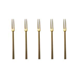 東屋 姫フォーク 真鍮 5本 セット  ネコポス対応可|designshop-jp