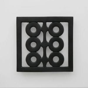 キャッシュレス還元 南部鉄器 小笠原陸兆 鍋敷き 六つ丸   ネコポス対応可|designshop-jp