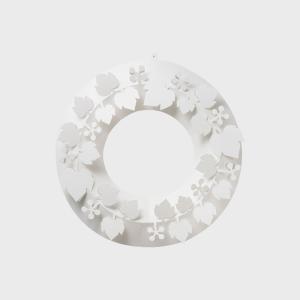 クリスマスリース ホワイト paper wreath 山ぶどう S【ネコポス対応】  chiori ...