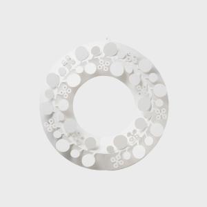 クリスマスリース ホワイト paper wreath ユーカリ S【ネコポス対応】  chiori ...