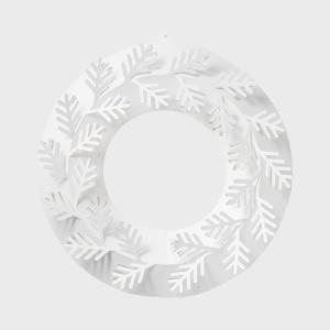 キャッシュレス還元 クリスマス リース  paper wreath ペーパーリース もみの木 M