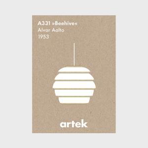キャッシュレス還元 北欧 artek アルテック アアルト モノクロ アイコンポスター ビーハイヴ|designshop-jp