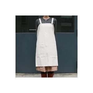 キャッシュレス還元 中川政七商店 かぶりエプロン 麻混  ネコポス対応可|designshop-jp
