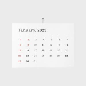 キャッシュレス還元 Ando Gallery 葛西薫 壁掛け カレンダー 2020  罫なし|designshop-jp