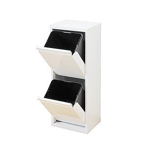 ダストボックス 2分別 薄型 スチール製 キッチン ゴミ箱 sei-ds-76|designstyle