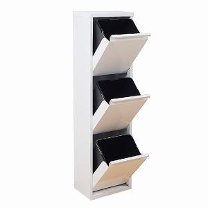 (8月上旬入荷分 予約販売)ダストボックス 3分別 薄型 スチール製 キッチン ゴミ箱 sei-ds-77|designstyle