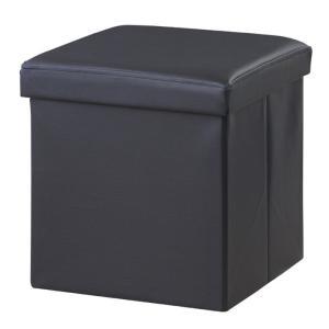 ボックススツール 正方形 ブラック az-lfs-811bk