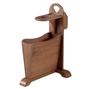 [サイズ]W45×D30.5×H60 [素材]天然木(ラバーウッド) 天然木化粧繊維板(ウォルナット...