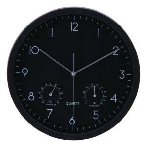 掛時計温湿度計付 ベゼル Φ25cm ブラック EG6910ATH-YP21 fj-26333|designstyle