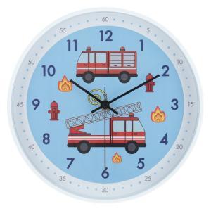 掛時計クララ Φ25cm 消防車 6028 fj-27414|designstyle