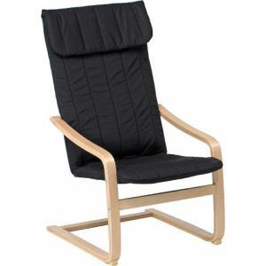 リラックスチェアースリムBK ブラック fj-84055|designstyle