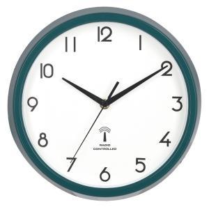 電波掛時計 カペラ Φ27cm グリーン EG8819P-RC fj-99289|designstyle