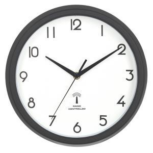 電波掛時計 カペラ Φ27cm ブラック EG8819P-RC fj-99290|designstyle