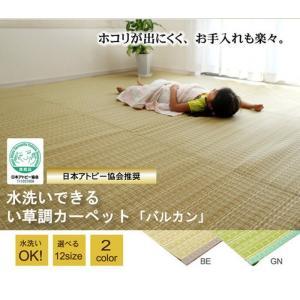 日本製 洗えるPPカーペット バルカン GN本間 4.5畳 ike-4497550s21 designstyle
