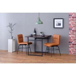 交換無料 ダイニングテーブル アカシア材 幅80cm ise-7620506 LITTLE スチール+ミディアムブラウン 2020 新作