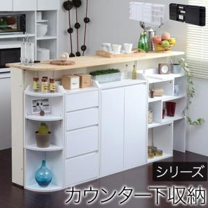 カウンター下収納 フルセット ホワイト jk-yhk-0204fullset-wh|designstyle