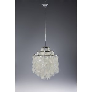 [サイズ]直径45xH60 [素材]シェード 真珠母貝小片 ディスク フレーム ステンレススチール ...