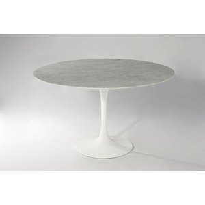 (くらしの応援クーポン対象)(保証付き)エーロ・サーリネン ラウンドダイニングテーブル W122 大理石 kaw-dt6131awhmar/テーブル/Table/天板//北欧/送料無料/の写真