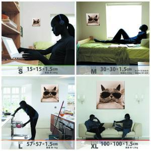 猫 アート アートパネル アートデリ Mサイズ 30cm×30cm lib-5109081s1 designstyle 07