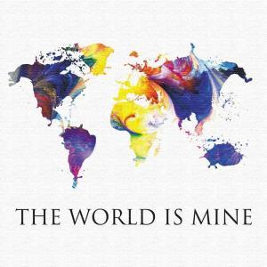 世界地図 壁掛けアート ポップアート pop-1610-002 アートパネル アートデリ Mサイズ 30cm×30cm lib-5157302s1|designstyle