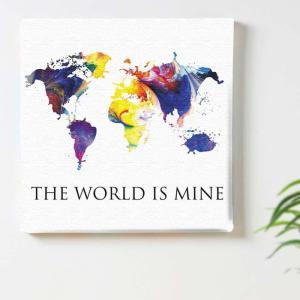 世界地図 壁掛けアート ポップアート pop-1610-002 アートパネル アートデリ Mサイズ 30cm×30cm lib-5157302s1|designstyle|02