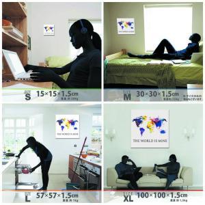 世界地図 壁掛けアート ポップアート pop-1610-002 アートパネル アートデリ Mサイズ 30cm×30cm lib-5157302s1|designstyle|07