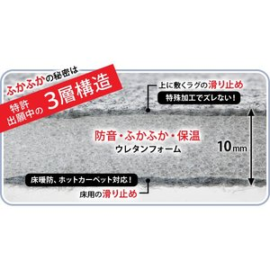 防音ふかふか下敷専用ラグ 〔ふかピタ〕 170x115cm (1.5畳用) mu-33100109|designstyle|05