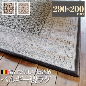 ベルギー製ウィルトン織ラグ 〔エヴェル〕 290x200cm mu-51000119|designstyle