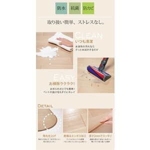 Fine ファイン 木目調防水ダイニングラグ 230x182cm mu-61600015|designstyle|06