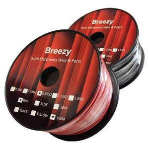Breezy AVSコード 0.85 100m red&black|desir-de-vivre