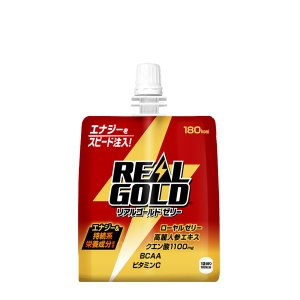 リアルゴールド ゼリー 180g パウチ 入数 24本 1 ケース | 炭酸 コカ・コーラ コカコー...