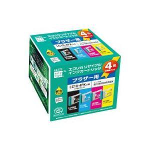 エコリカ!インクカートリッジ ブラザー互換製品!エコリカ型番【ECI-BR104P/BOX】 対応純正品【LC10-4PK】カラー:4パック (ブラック/シアン/マゼンタ/イエロー)|desir-de-vivre