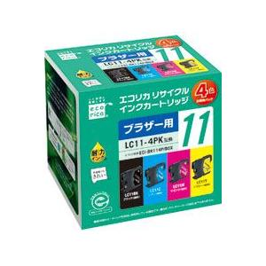 エコリカ!インクカートリッジ ブラザー互換製品!エコリカ型番【ECI-BR114P/BOX】 対応純正品【LC11-4PK】カラー4色セット:ブラック,シアン,マゼンタ,イエロー|desir-de-vivre