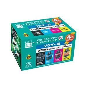エコリカ!インクカートリッジ ブラザー互換製品!エコリカ型番【ECI-BR094P/BOX】 対応純正品【LC094PK】カラー4色パック:ブラック,シアン,マゼンタ,イエロー|desir-de-vivre
