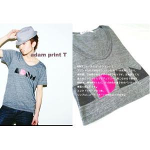 EDITアダムプリントTシャツ|desir-de-vivre
