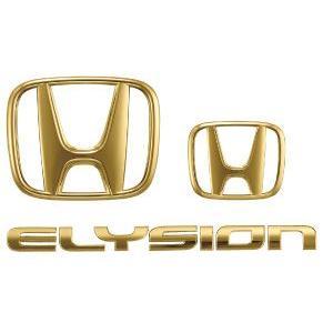 HONDA ホンダ ELYSION エリシオン 純正 ゴールドエンブレム2.4L車用〈Hマーク2個 + 車名エンブレム〉 2010.11〜仕様変更|desir-de-vivre