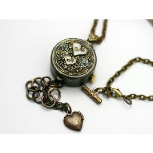 Kaori Mirror Heart 水色手作りブレス、ネックレス desir-de-vivre