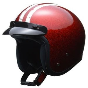 LEAD リード工業 FLAKER スモールジェットヘルメット レッド | ジェット ヘルメットレッド 原付 大型 バイザー インナー 交換 ラメ 通学 スポーティ 赤|desir-de-vivre